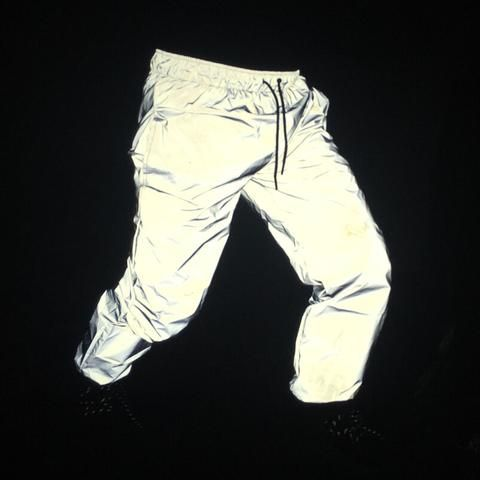 Reflective Pants Men 2017 Brand Hip Hop Dance Fluorescent Trousers Casual Harajuku Night Sporting Jogger Pants Gray is part of Dance Clothes Hip Hop - Gender MenItem Type Full LengthBrand Name PARKLEESStyle CasualWaist Size(in inches) 27 545 9Model Number FG101Waist Type MidDecoration PocketsFit Type RegularFabric Type BroadclothMaterial Polyester,CottonThickness MidweightClosure Type Elastic WaistLength Full LengthPant Style Pencil PantsFront Style