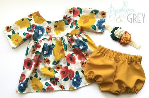 Yellow Floral Kids Fall Tunic