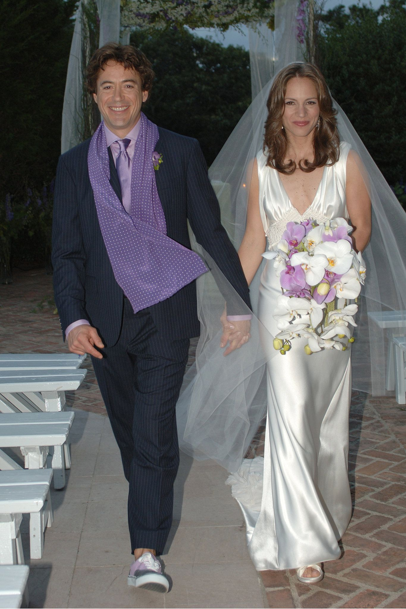 Robert Downey Jr Took Bride Susan Levin By The Hand In August 2005