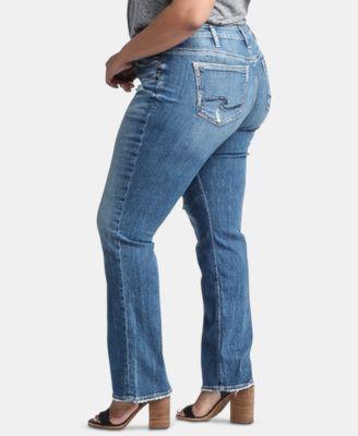 Silver Jeans Co. Trendy Plus Size Suki Straight-Leg Jeans & Reviews - Jeans - Plus Sizes - Macy's 5