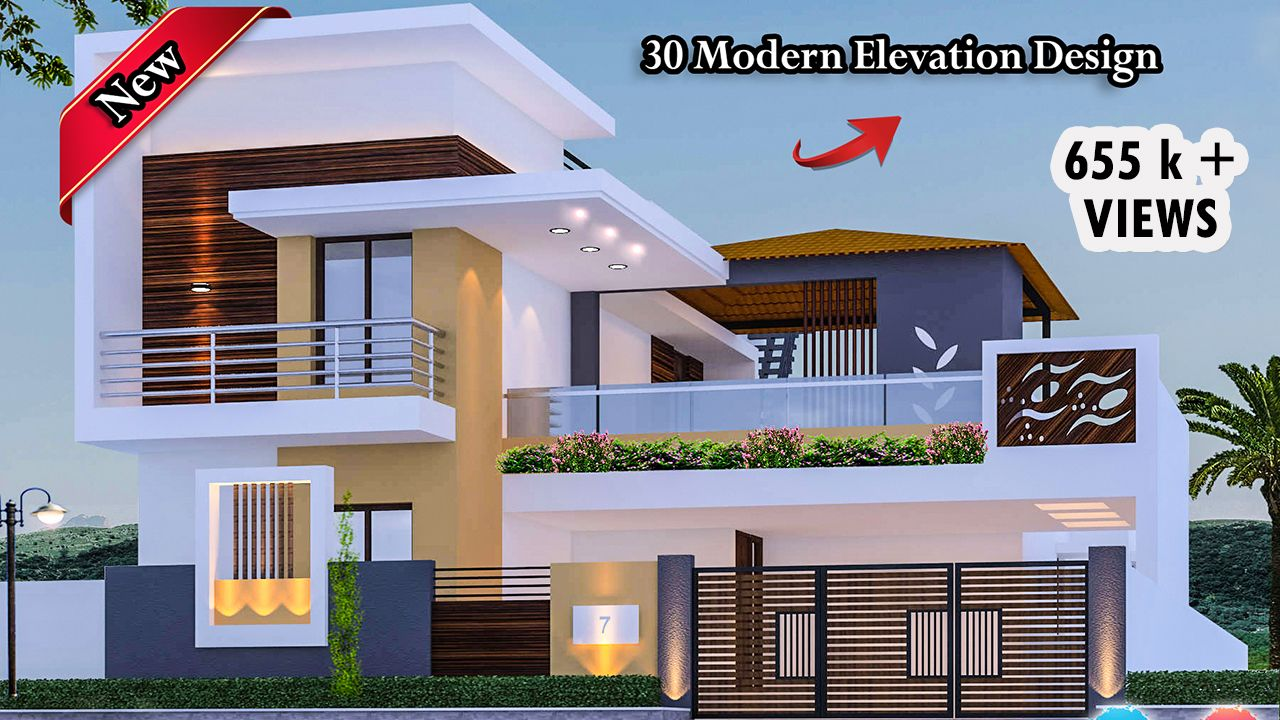 30 Beautiful Modern House Front Elevation Design Front Elevation Designs House Designs Exterior House Elevation