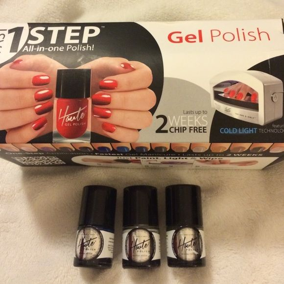 Haute gel nail polish kit New, in box. Never been used. Haute gel ...