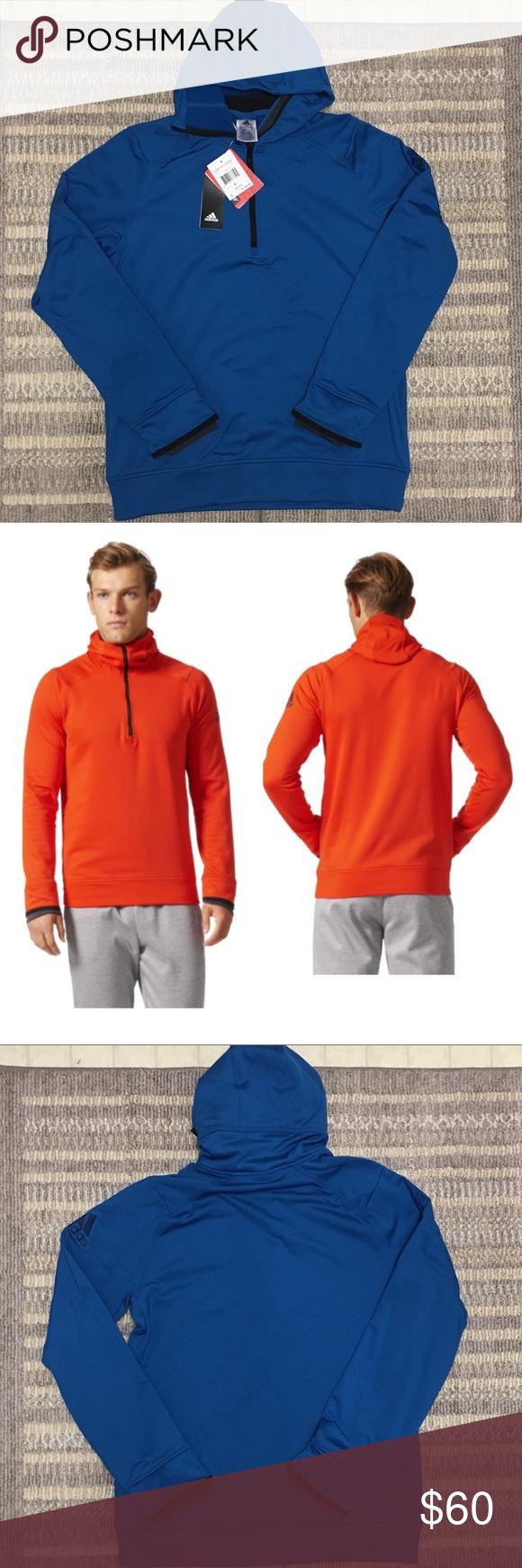 Men S Adidas Climaheat Blue Hoodie Clothes Design Fashion Fashion Design [ 1740 x 580 Pixel ]