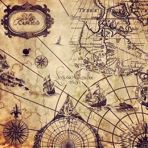 Old map classic antique pirate vibes pinterest tattoo vintage pirate map i really want a pirate map tattoo gumiabroncs Images