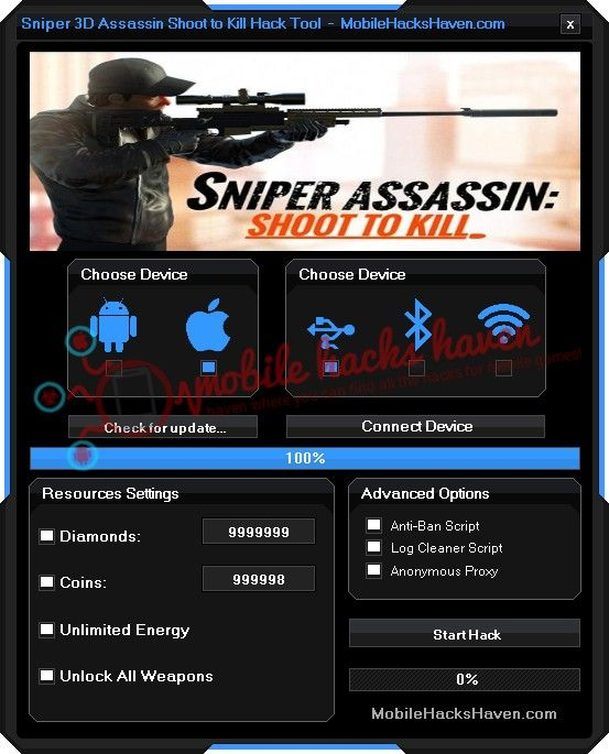 sniper 3d assassin hack without human verification