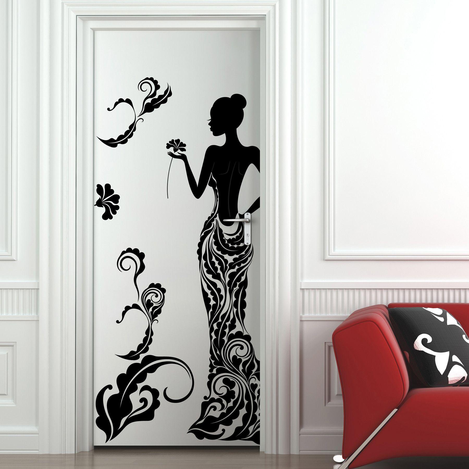 Трафарет на двери входной картинки