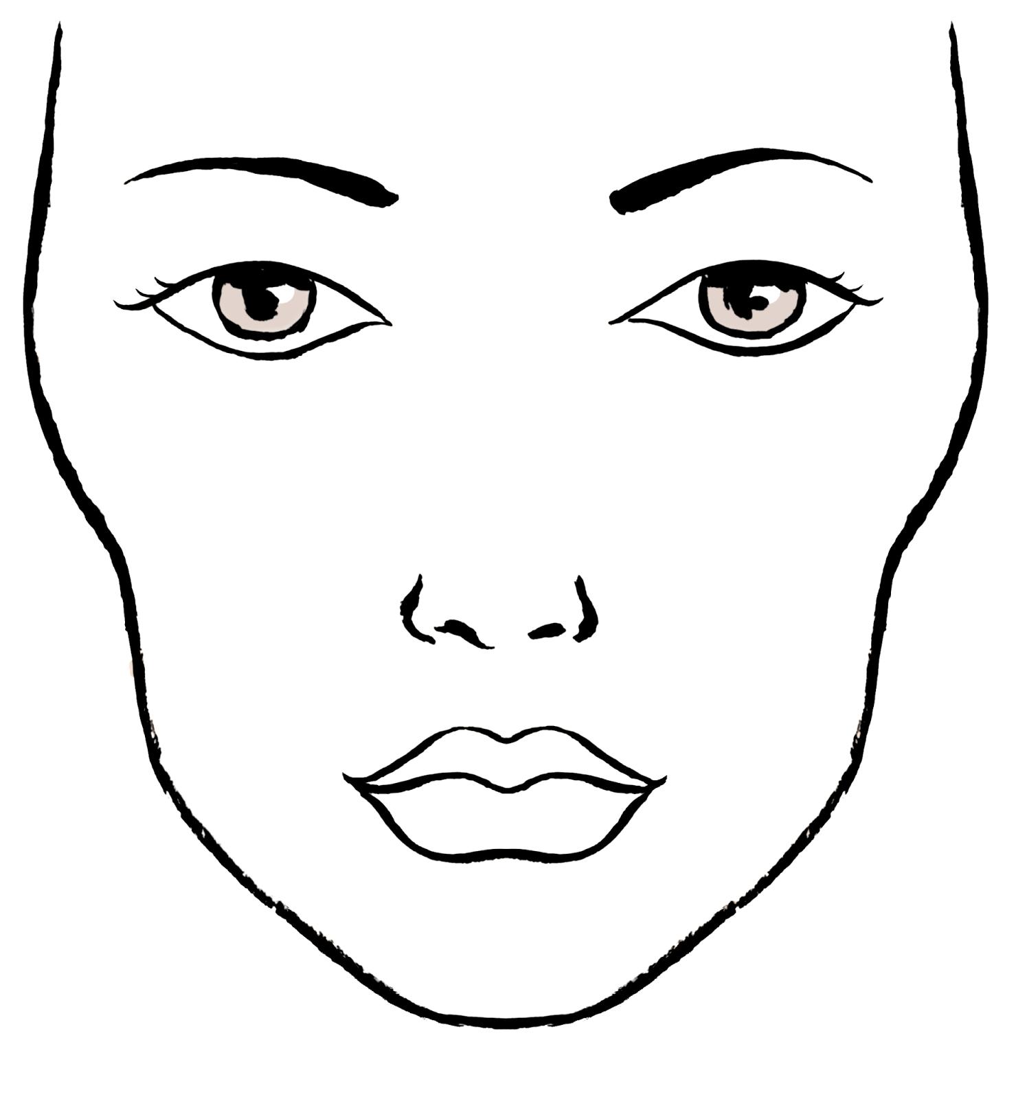 Face Charts Vierge Blank Visage Portrait Base Essai