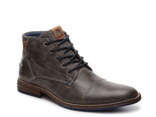 Men's Bullboxer Diever Cap Toe Boot Grey | Boots, Shoes