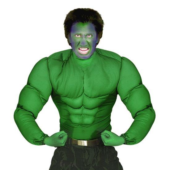 Groen spierballen shirt voor heren carnavalskleding 2016 for Mobilya megastore last minute