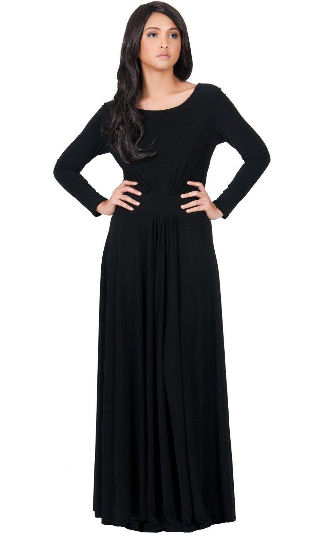 Koh koh womenus designer round neck long sleeve maxi dress hijab