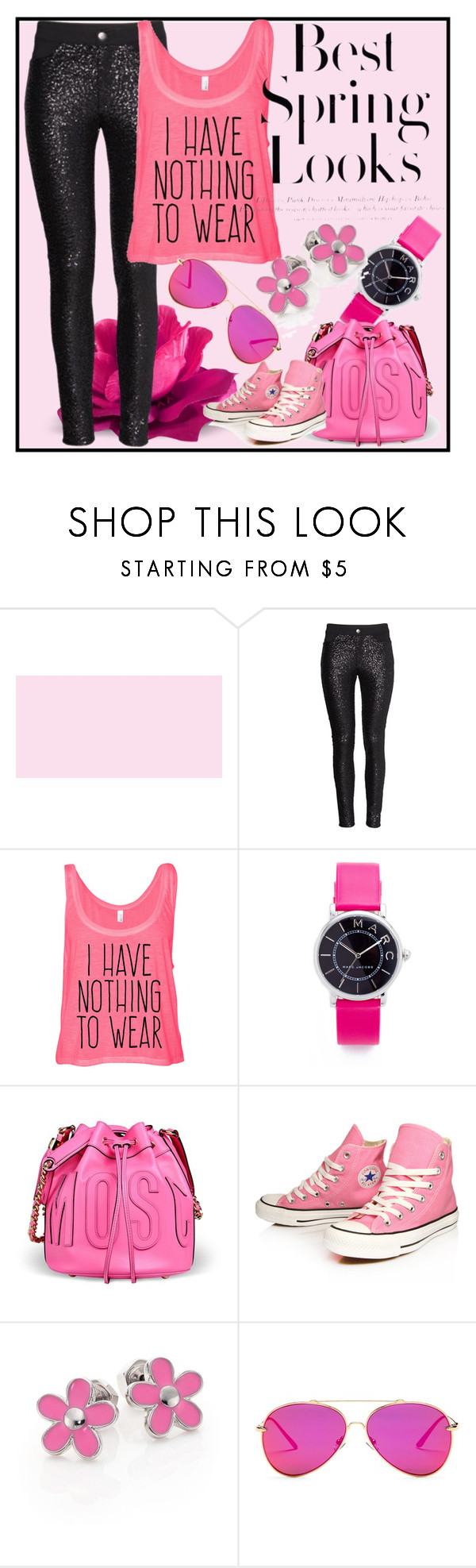 """""""Untitled #7"""" by merima-mrahorovic ❤ liked on Polyvore featuring Marc Jacobs, Moschino, Converse, H&M, Marc by Marc Jacobs and AQS by Aquaswiss"""