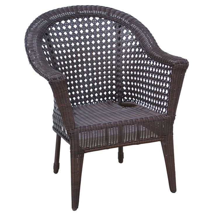 Dark Brown Wicker Chair
