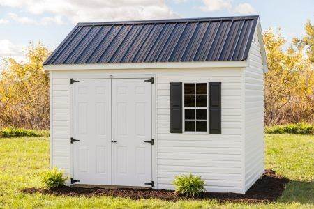 10x12 Vinyl Cottage Storage Shed Vinyl Storage Sheds Metal Shed Roof Shed