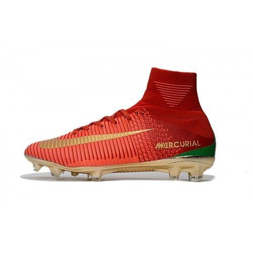 the best attitude a1865 7a6d8 Nike Mercurial - Baratas 2017 Nike Mercurial Superfly V CR7 FG Oro Rojo  Zapatos De Futbol