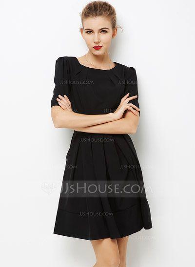 [€ 39.97] poliéster con Costura Sobre la rodilla Vestido (199103605)