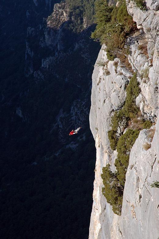 Base jump at les gorges du verdon/ France