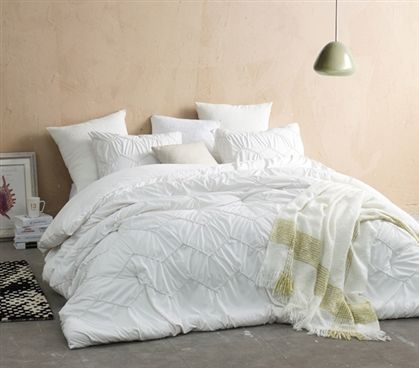 Textured Waves Twin Xl Comforter Supersoft Jet Stream Comforter Sets White Comforter Bedding Sets