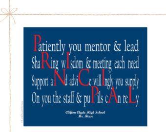 School Principal Gift, 8x10 Print, Teacher Gift | Appreciation ...