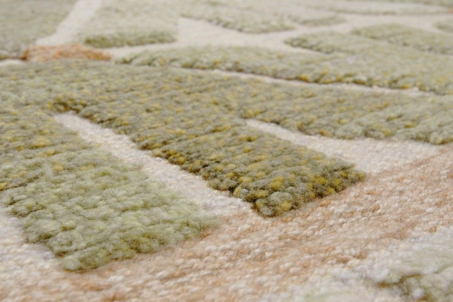 """Detail of custom carpet, from """"Higher Calling: The story behind F.J. Hakimian, one of the world's premier textile galleries."""""""