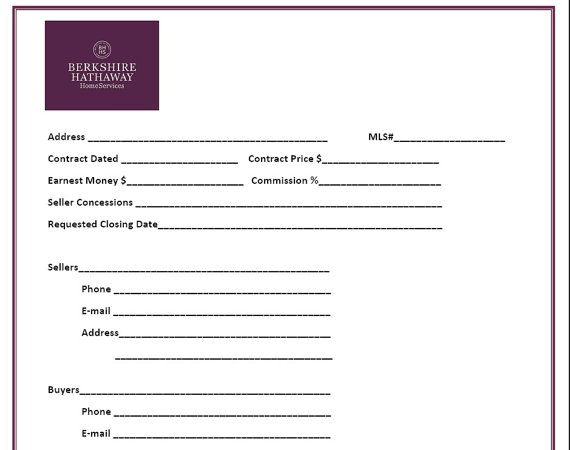 Real Estate Transaction Closing Form  Purple  Real Estate Forms