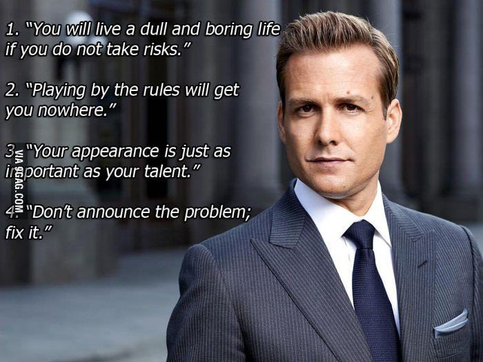 Things Harvey Specter Has Taught Us Harvey Specter Harvey Specter Quotes Suits Quotes