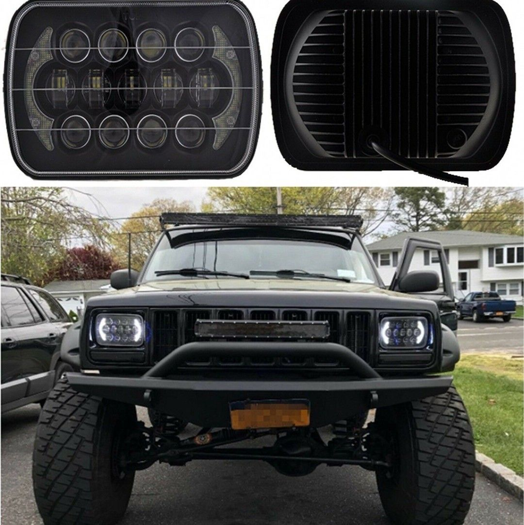 7x6led Headlight Hi Lo Beam Halo Drl Bulb For Jeep Jhlionofficial Jhlionok Jhlion Jeepledlights J In 2020 Jeep Led Lights Jeep Front Bumpers Jeep Lights
