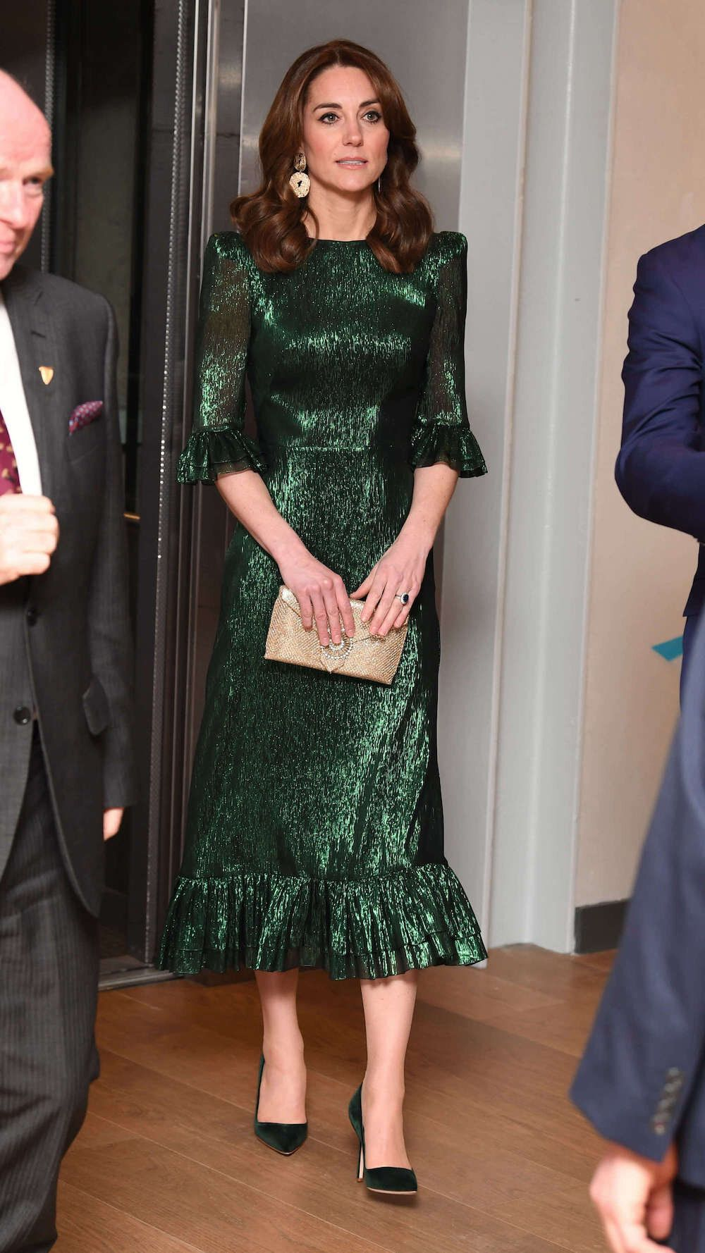 Grünes Kleid Kate Middleton  los angeles 2021