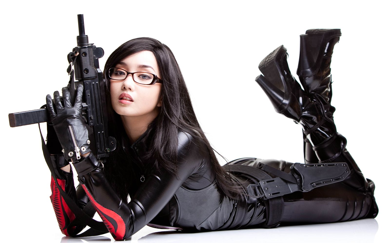 Are not Cosplay girl with gun you were