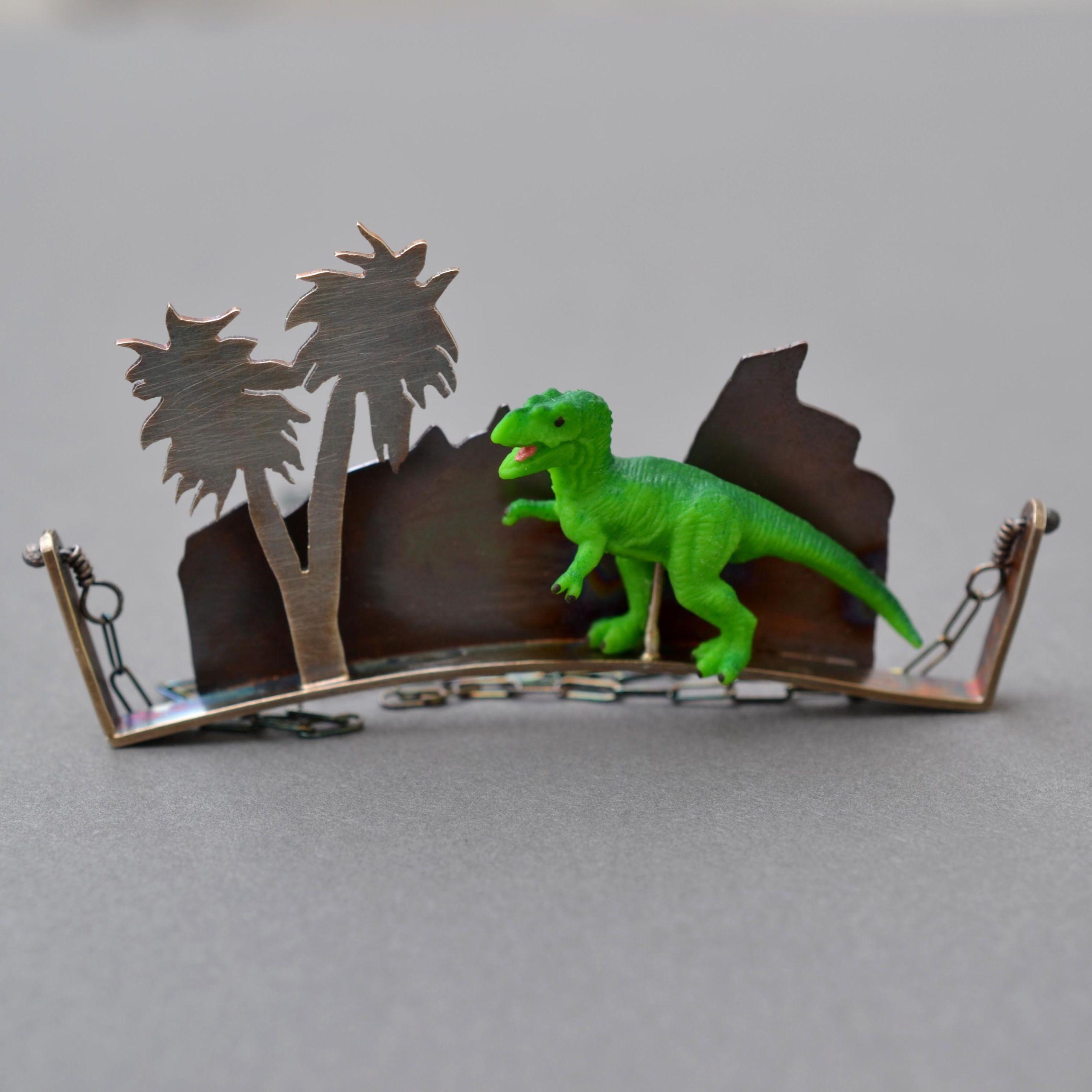 T Rex Diorama Necklace - Metamorphosis Metals