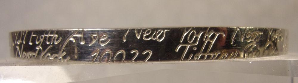 8bef3fbf1 1997 TIFFANY & Co Sterling 925 BANGLE BRACELET 727 Fifth Ave New York Rare # TiffanyCo