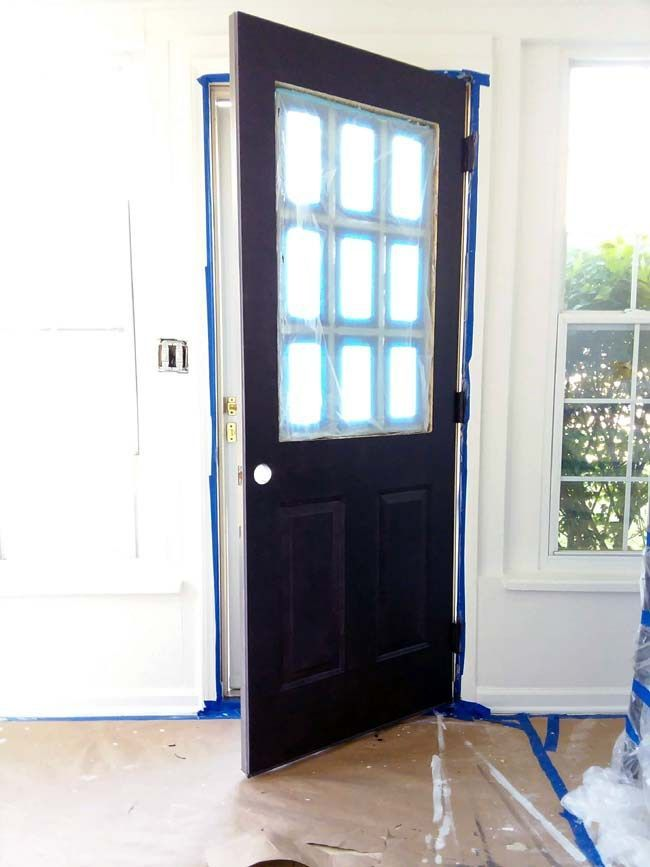 10 Steps to Painting Grid Doors and Frosting the Glass Windo…