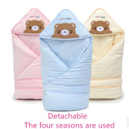Removable Cotton Infant Wrap Bear Childrens Sleeping Bags Baby