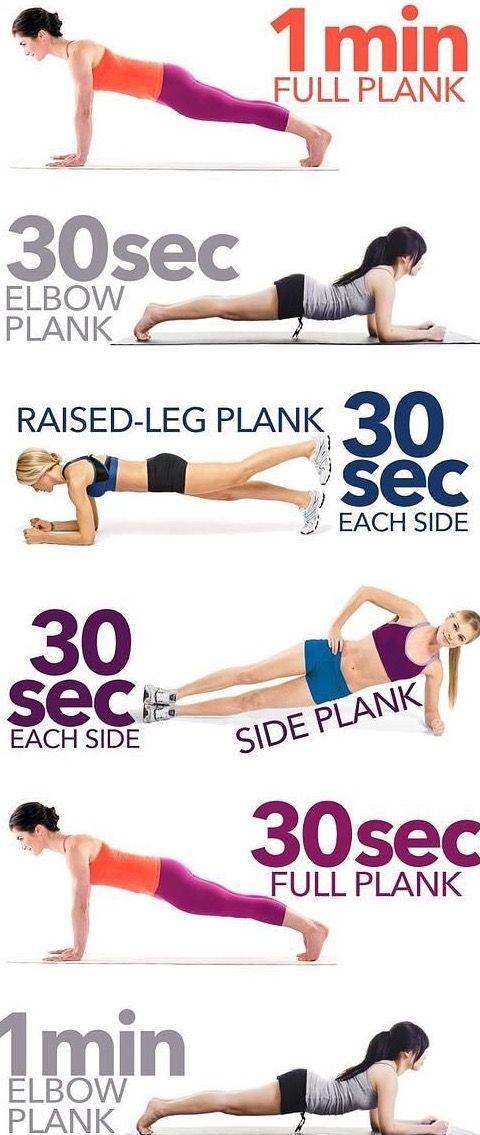 Le gainage/ la planche   Exercices de fitness, Exercice
