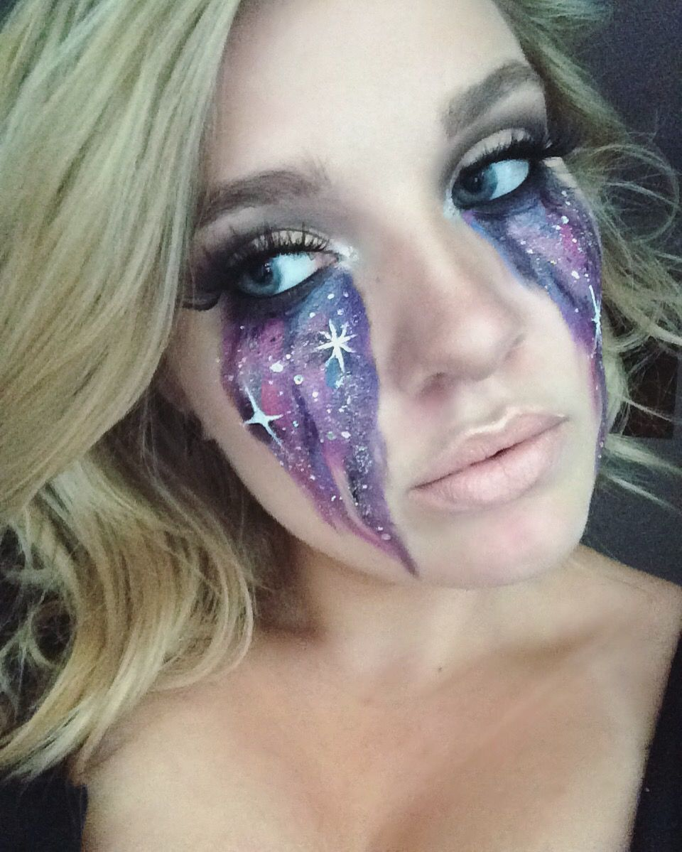Galaxy Halloween makeup