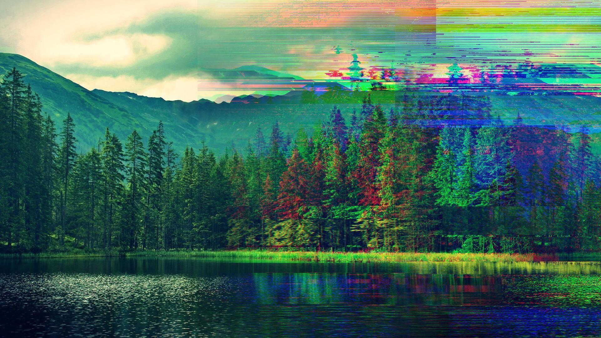 This gif has everything glitch pixel art graphic design vaporwave - Image Glitch Wallpaper