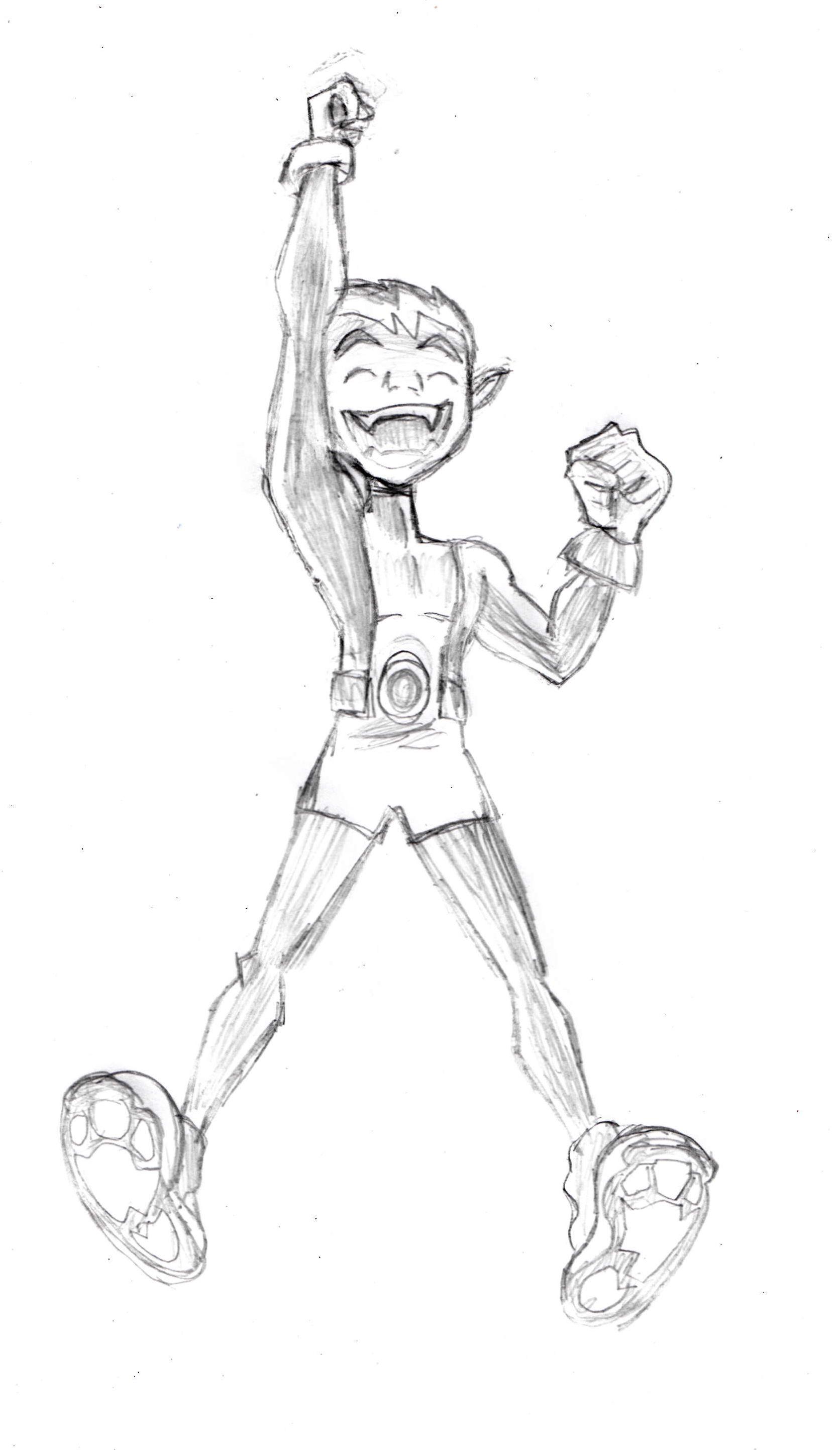 Beast Boy sketch http://drawingmanuals.com/manual/how-to