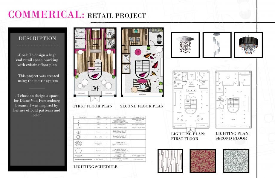 ID Portfolio High End Retail Project PRESENTATION Pinterest - project plan