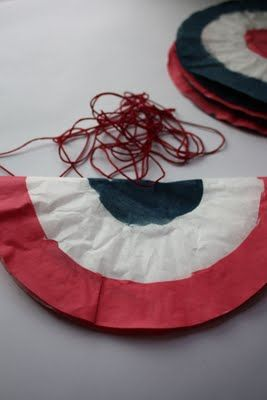 Patriotic Fun: Coffee Filter Bunting {Tutorial} | July 4th | Coffee
