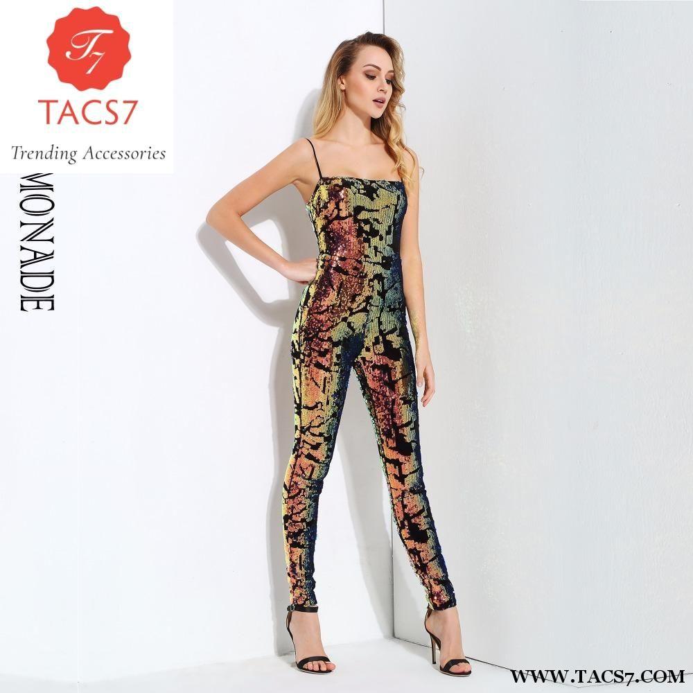 3f5ff310b5 Love Lemonade Sexy Tube Top Sequin Velvet Slim Jumpsuit LM0693