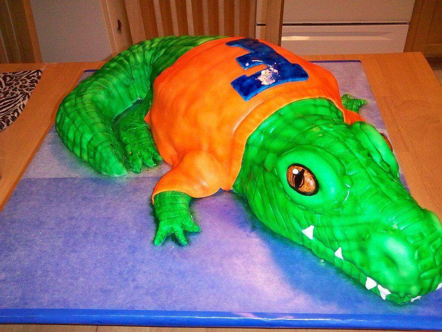 Albert 3d fondant dinosaur stuffed animal crocodile