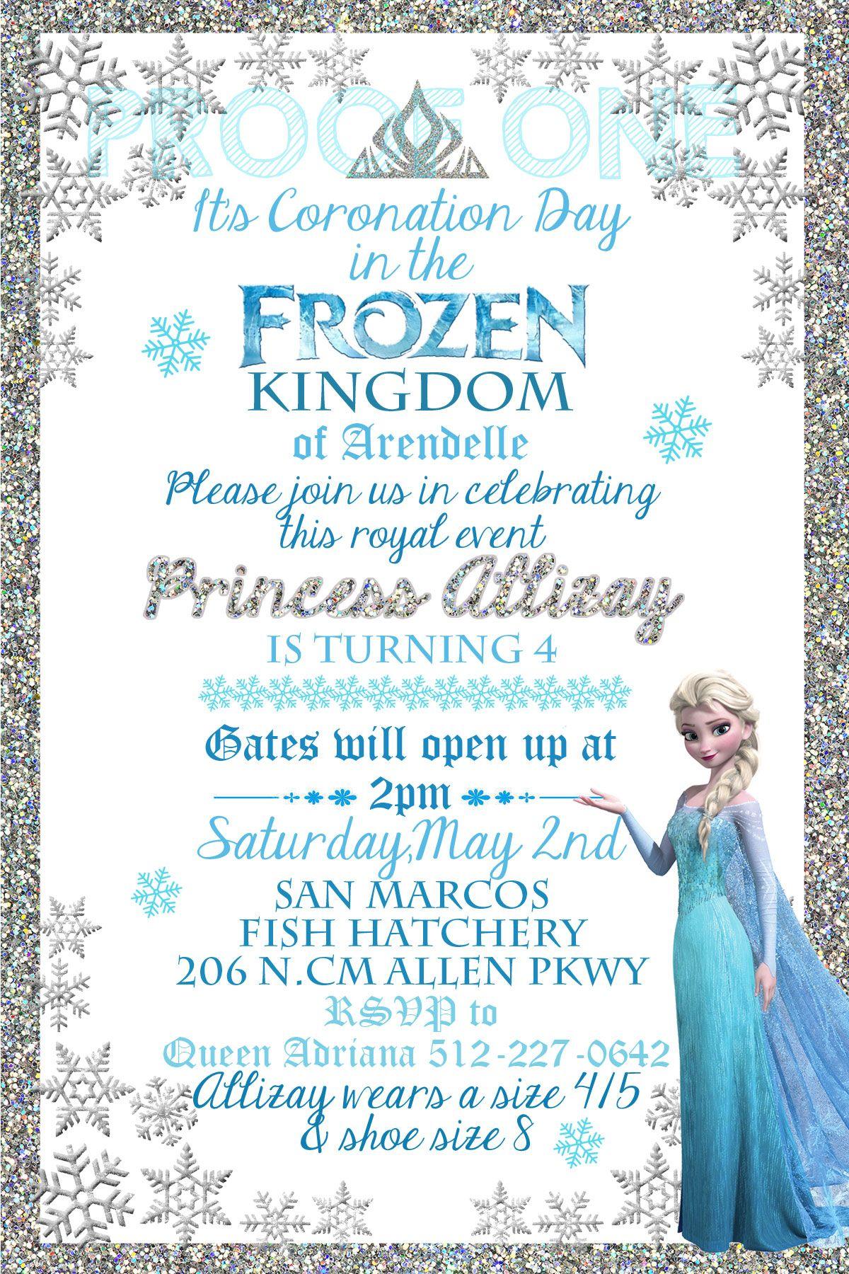 Frozen Formal Invitation