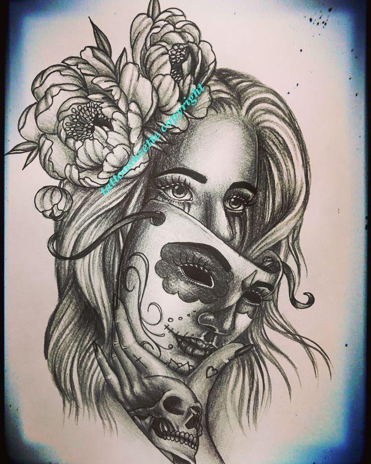 Bildergebnis für frau mit maske tattoo Bildergebnis