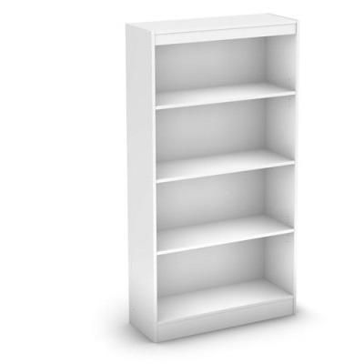 Buy White 4 Shelf Bookcase With 2 Adjustable Shelves Free Shipping At OliveTree Home For Only 9995
