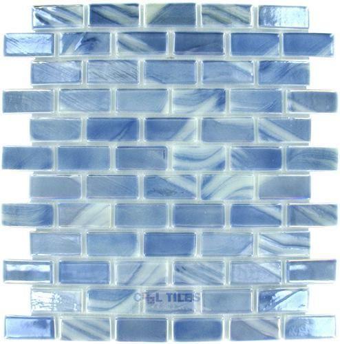 Vidrepur Vid 095751m Brushed Silver Blue White Iridescent Tile Gl