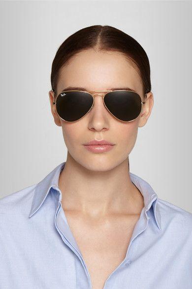 Ray Ban Aviator Gold Tone Sunglasses In 2019
