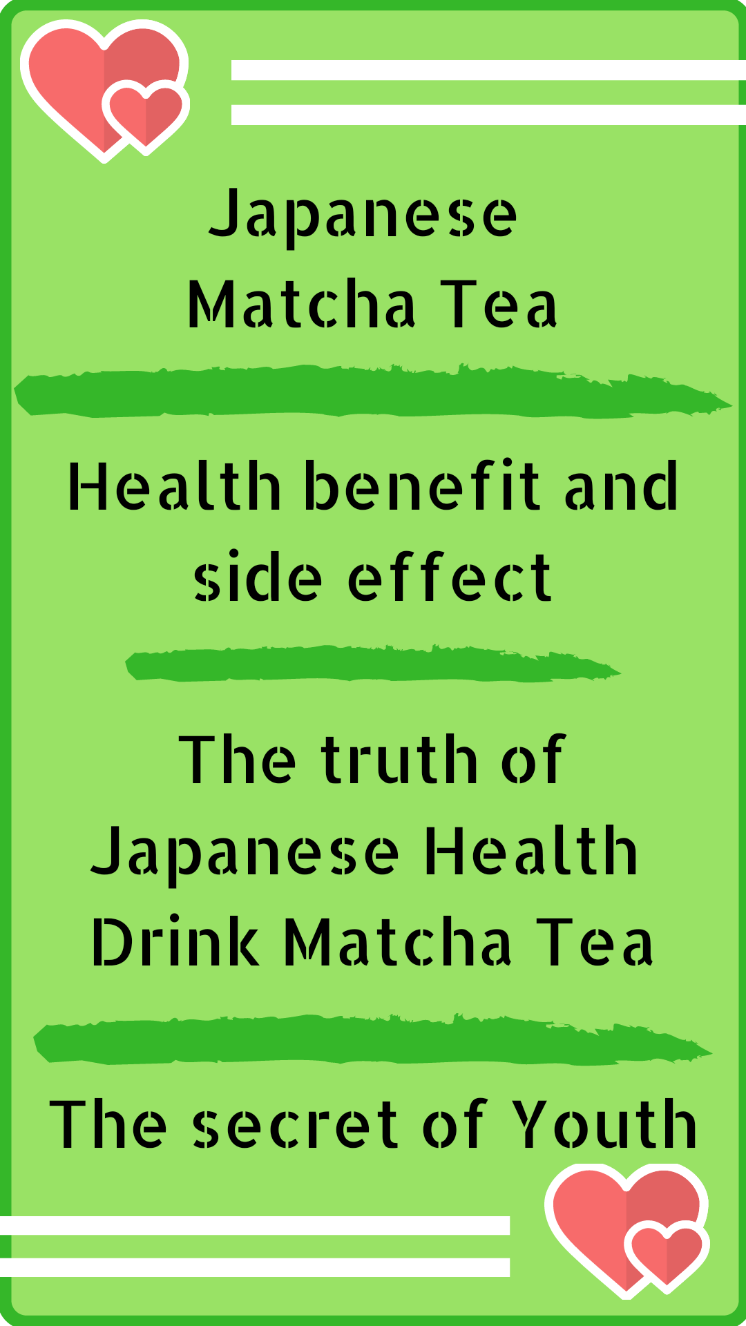 Superfood green drink Japanese Matcha Tea Benefit and