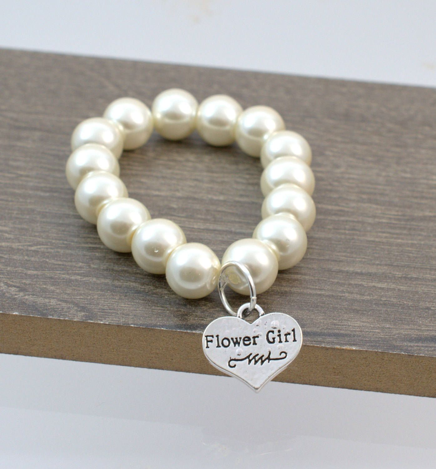 Flower Girl Bracelet Wedding Jewelry Flower Girl Gift Childrens