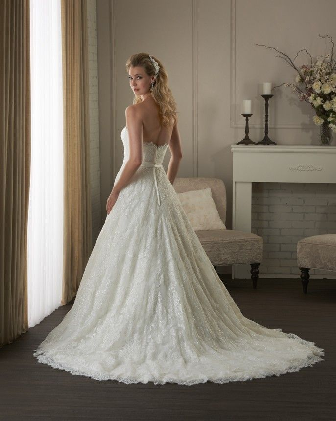 Style 408 from the Bonny Classic Collection by Bonny Bridal