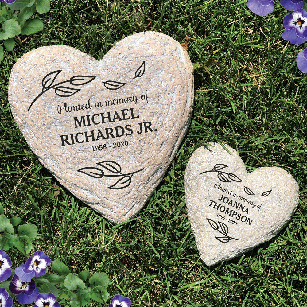 Engraved Memorial Heart Garden Stone Garden Stones Small Memorial Garden Ideas Memorial Garden Stones