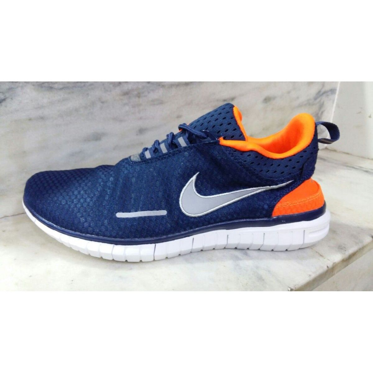 wholesale dealer cc4b8 42970 Nike Free Run OG Breathe Blue Orange Running Shoes